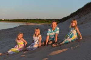 Kids on the dune
