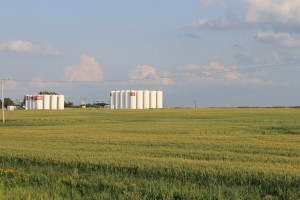 Two different types of energy stores on the Plains. Photo: J. MacFadyen, August 2014