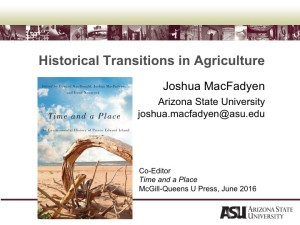 Historical presentation for the SSF Webinar on Integrated Land Use, June 2016