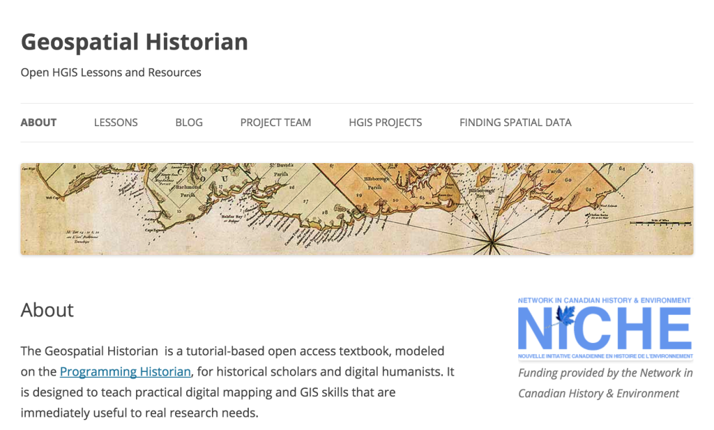 Geospatial Historian screenshot