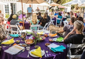 Presenting on The last 25 Years of Food Systems History, Dinner 2040, Phoenix (Photo by Anya Magnuson/ASU Now)