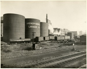 Figure 1: Image: Weather factory? ADM Mill in Minneapolis, c1920. Photo: Minnesota Historical Society, MH5.9 MP3.1A