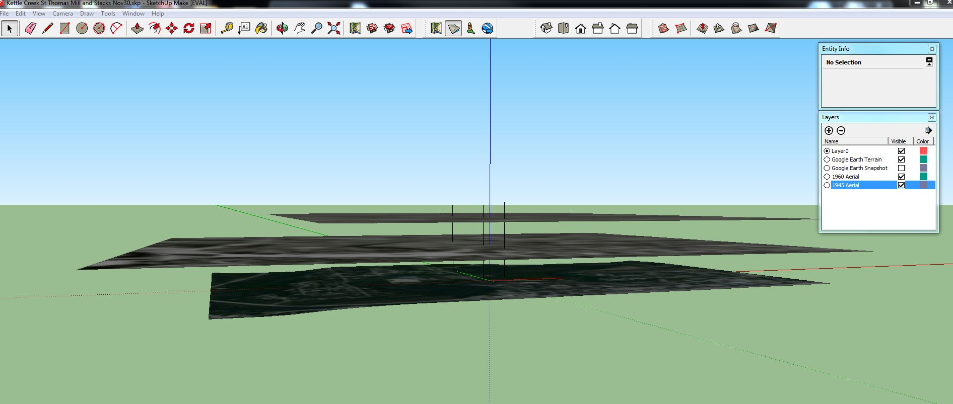 Historical aerial photographs as layers in SketchUp   Josh
